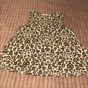 Adrienne Leopard flowy sleeveless top